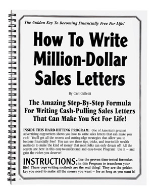 How To Write Million Dollar Sales Letters